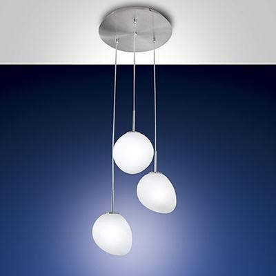 Fabas Luce 3248-47-178 Evo Suspension Lamp 3 Light Satin Nickel-Fabas Luce-DC Lighting Ltd