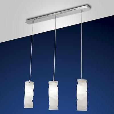 Fabas Luce 3250-47-178 Melt Suspension Lamp Satin Nickel-Fabas Luce-DC Lighting Ltd