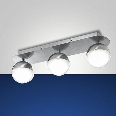 Fabas Luce 3262-63-178 Melville Oval Ceiling Lamp 3 Light Satin Nickel-Fabas Luce-DC Lighting Ltd