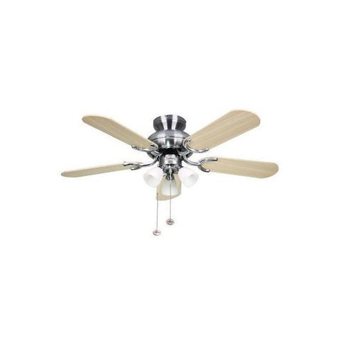 "Fantasia Amalfi 36"" Ceiling Fan In Stainless Steel With Light"