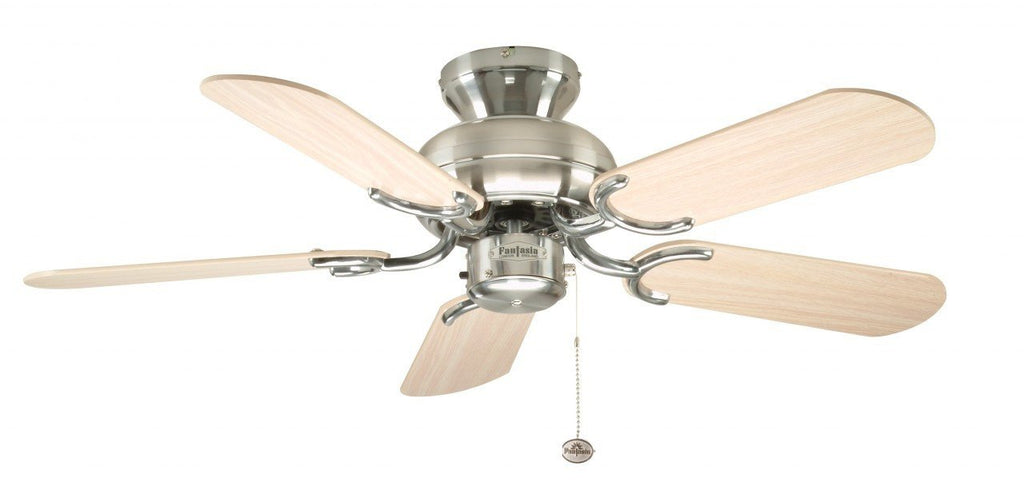 Fantasia capri 36 flush stainless steel ceiling fan with optional fantasia capri 36 flush stainless steel ceiling fan with optional light kit fantasia fans aloadofball Image collections