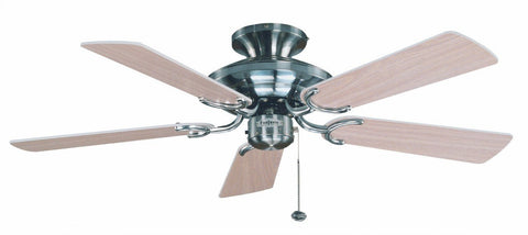 "Fantasia Mayfair 42"" Flush Stainless Steel Ceiling Fan With Optional Light Kit-Fantasia Fans-DC Lighting Ltd"
