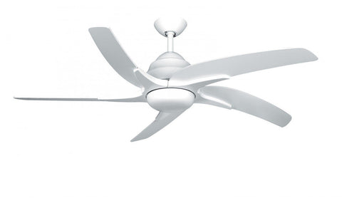 "Fantasia Viper Ceiling Fan Gloss White Finish Available In 44"" or 54"" Sizes"