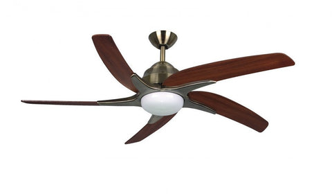 "Fantasia Viper Plus LED Ceiling Fan Antique Brass Finish Available In 44"" or 54"" Sizes"
