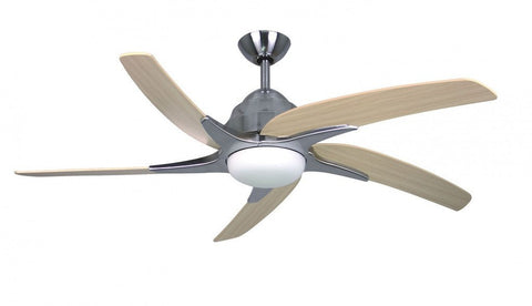 "Fantasia Viper Plus LED Ceiling Fan Stainless Steel Finish Available In 44"" or 54"" Sizes"