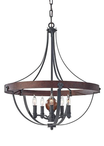 Feiss FE/ALSTON5 Alston 5Lt Chandelier