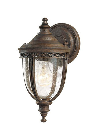 Feiss FE/EB2/S BRB English Bridle 1Lt Small Wall Lantern British Bronze