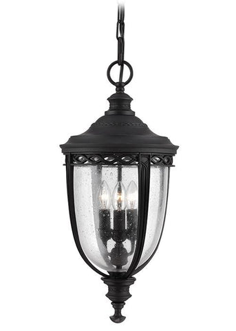 Feiss FE/EB8/L BLK English Bridle 3Lt Large Chain Lantern Black