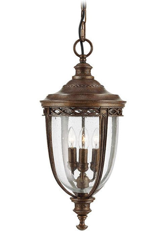 Feiss FE/EB8/L BRB English Bridle 3Lt Large Chain Lantern British Bronze