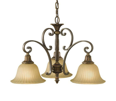 Feiss FE/KELHALL DN3LT Kelham Hall Down 3Lt Chandelier