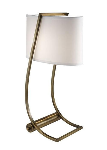 Feiss FE/LEX TL BB Lex Table Lamp Bali Brass