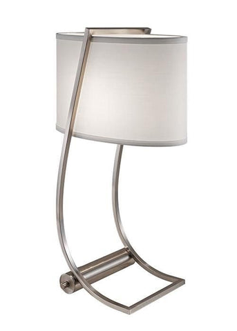 Feiss FE/LEX TL BS Lex Table Lamp Brushed Steel