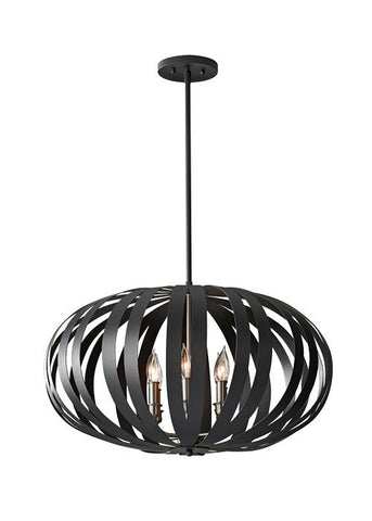 Feiss FE/WOODSTOCK/P/L Woodstock 6Lt Large Chandelier