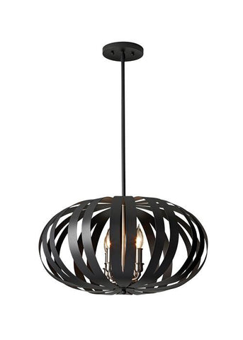 Feiss FE/WOODSTOCK/P/M Woodstock 4Lt Medium Chandelier