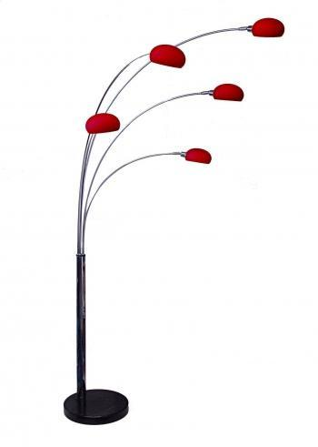 Fiver Lounge 5 Chrome Arc Floor Lamp-Danalight-DC Lighting Ltd