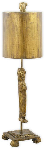 Flambeau FB/Caryatid-G Caryatid Gold Table Lamp