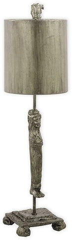 Flambeau FB/Caryatid-S Caryatid Silver Table Lamp