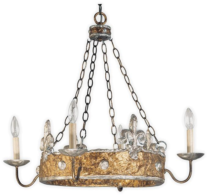 Flambeau FB/Crown/P Crown 4lt Chandelier-Flambeau-DC Lighting Ltd