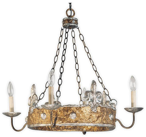 Flambeau FB/Crown/P Crown 4lt Chandelier