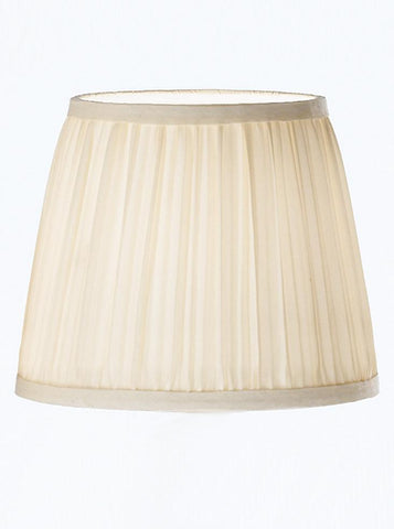 Franklite 1085 Cream Pleat Silk Candle Shade