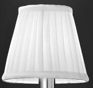 Franklite 1129 White Pleat Candle Shade