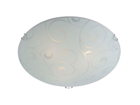 Globo Lighting 40400-1 Ceiling Lamp Glass Clear Satined, 1 x E27 60W Lamp E27