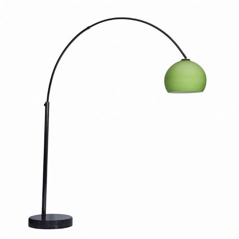 Goliath Lounge 1 Arc Floor Lamp In Black Chrome With A Shade Available In 12 Colours
