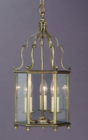 Impex SMBBL00004/AB Belgravia 3Lt Antique Brass
