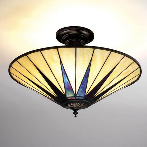 Interiors 1900 64043 Dark Star Semi-Flush Ceiling Light