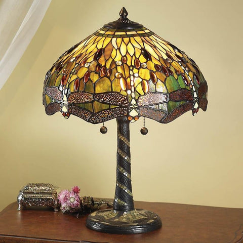 Interiors 1900 64095 Green Dragonfly Medium Table Lamp