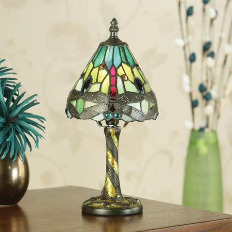 Interiors 1900 64099 Dragonfly Mini Lamp Green