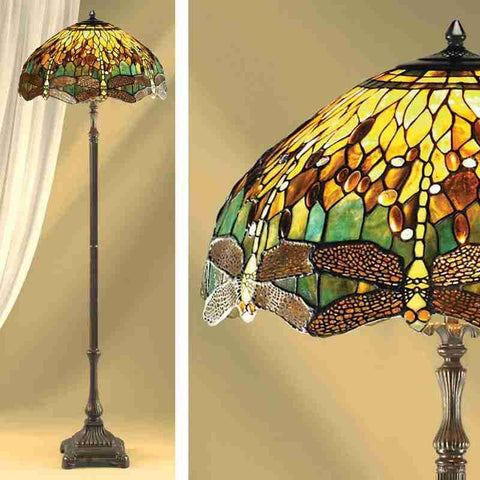 Interiors 1900 70941 Green Dragonfly Floor Lamp