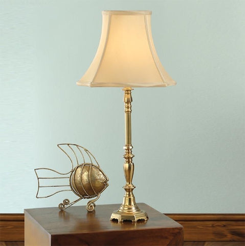 Interiors 1900 ABY1002AB + CHA12HON Asquith Brass Table Lamp With Honey Shade