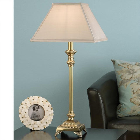 Interiors 1900 ABY1006AB + AL12OYS Wilmington Brass With Oyster Shade
