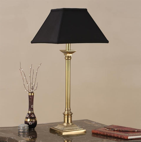 Interiors 1900 ABY1008AB + AL12BL Grenville Brass With Black Shade