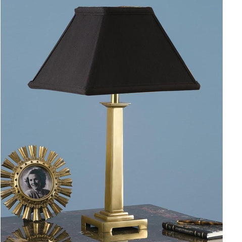 Interiors 1900 ABY1019AB + AL12BL Pelham Brass With Black Shade
