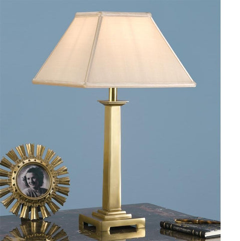 Interiors 1900 ABY1019AB + AL12OYS Pelham Brass With Oyster Shade
