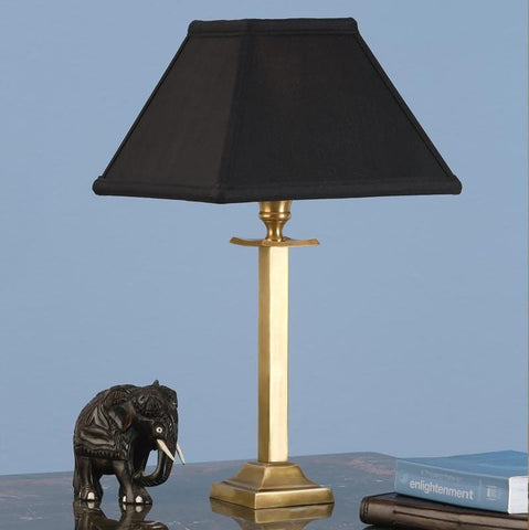 Interiors 1900 ABY113AB + AL9BL Wellesley Brass With Black Shade