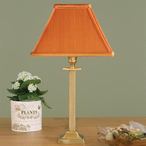 Interiors 1900 ABY113AB + AL9HARV Wellesley Brass With Harvest Shade