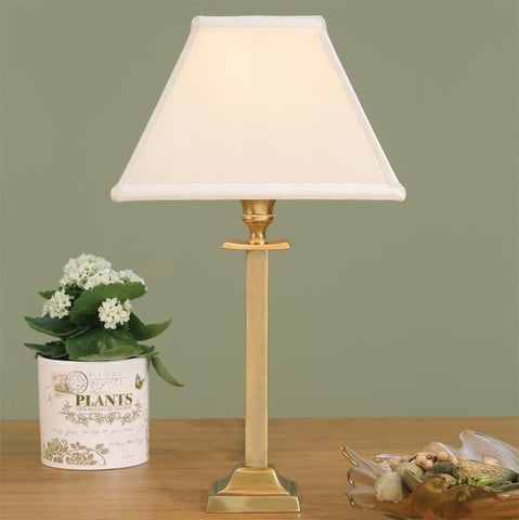 Interiors 1900 ABY113AB + AL9OYS Wellesley Brass With Oyster Shade