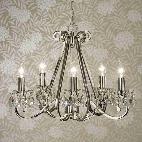 Interiors 1900 UL1P5N Oksana 5 Light Chandelier