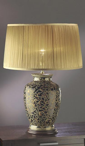 Luis Collection LUI/MORRIS GOLD Morris Gold/Black Large Table Lamp