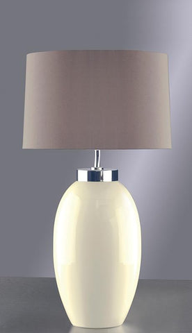 Luis Collection LUI/VICTOR SM CR Victor Small Cream Table Lamp