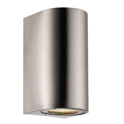 Nordlux Canto Maxi 77561034 Stainless Steel GU10 Wall Light-Nordlux-DC Lighting Ltd