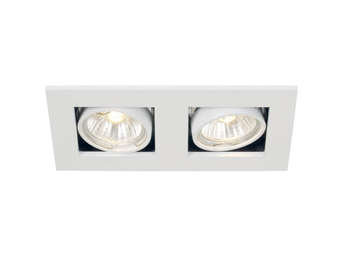 Nordlux Galilei 2-Spot 21070101 White Built-In Adjustable Twin Downlight-DC Lighting Ltd