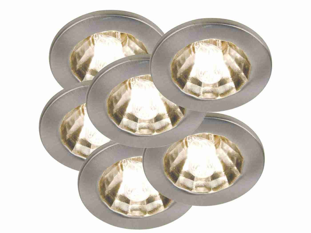 Nordlux Halo-Star 6-Kit 1546032 Brushed steel Built-In Recessed Spots-DC Lighting Ltd