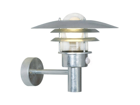Nordlux Lonstrup 32 71412031 Galvanized Wall Light With Sensor