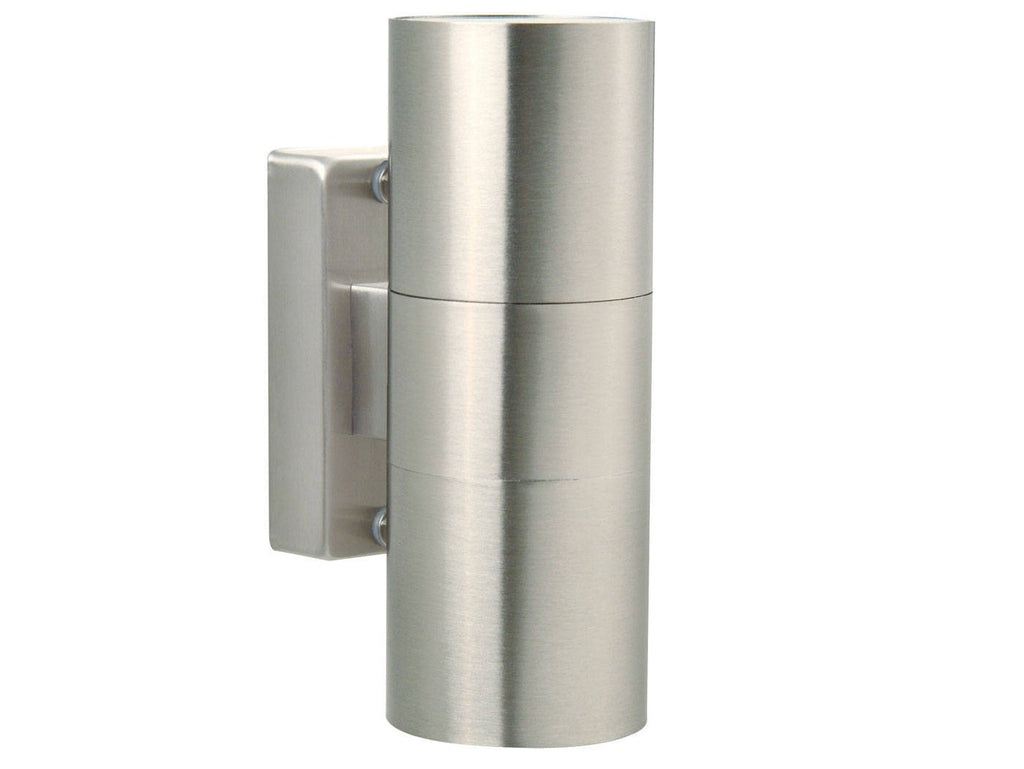 Nordlux Tin 21271134 Stainless steel Double Wall Light-DC Lighting Ltd