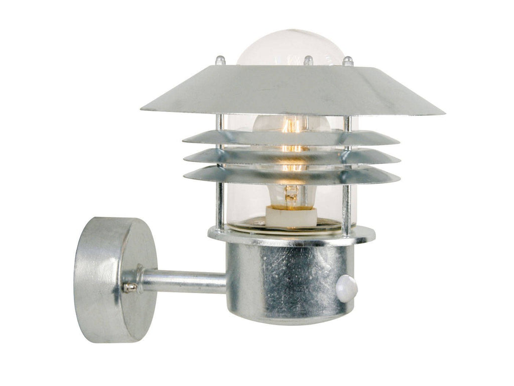 Nordlux Vejers 25101031 Galvanized Wall Light With Sensor-Nordlux-DC Lighting Ltd