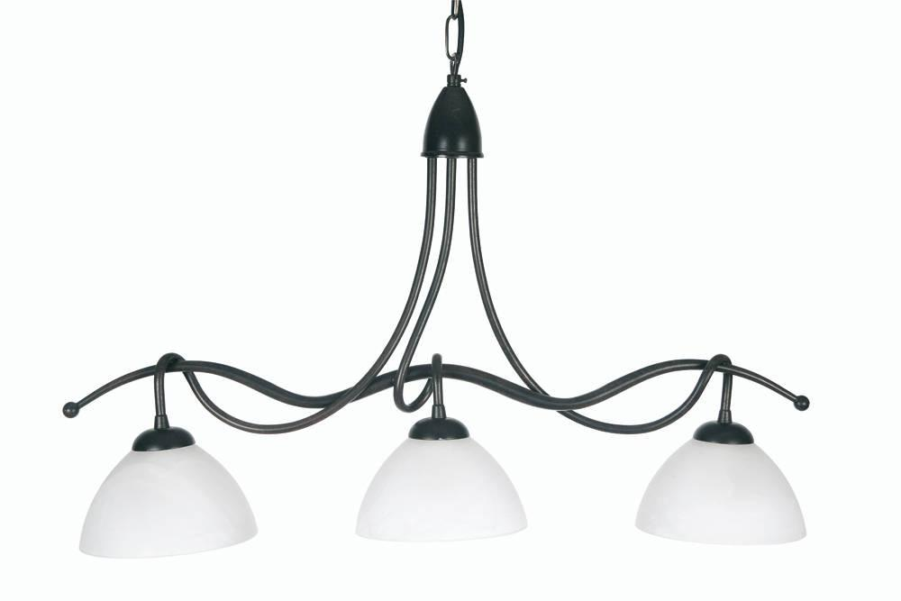 Oaks Country 0506/3BG Black-Gold Finish 3-Light Pendant-Oaks Lighting-DC Lighting Ltd